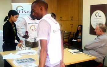 Standard Bank Group ballot counting at EISA offices