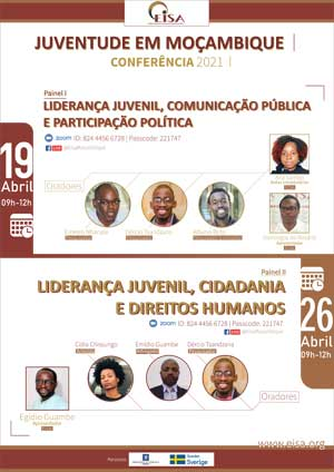 Flyer: EISA Mozambique's Youth Conference 19 and 26 April 2021