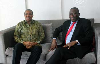 2019 South African elections: EISA EOM leader, Nigerian former President Goodluck Jonathan, meet with the IEC Chairperson, Commissioner Glen Mashinini
